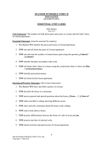 SPANISH INTRODUCTORY II ESSENTIAL UNIT 2 (E02)