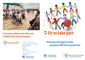 ОFit to take part - World Confederation for Physical Therapy
