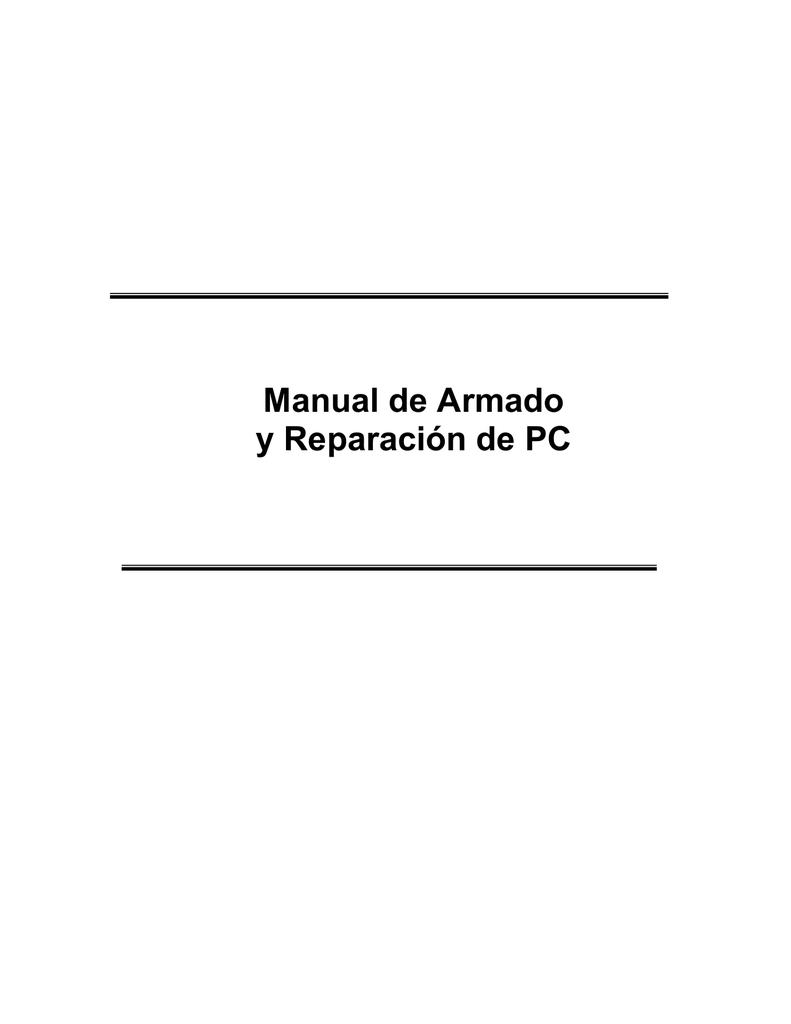 manual de armado de computadores