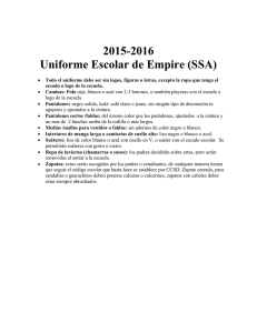 2015-2016 Uniforme Escolar de Empire (SSA)