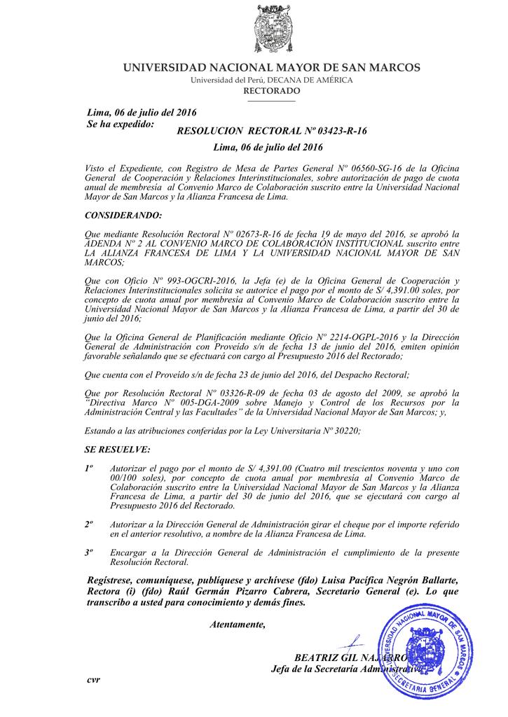 archivo - Universidad Nacional Mayor de San Marcos