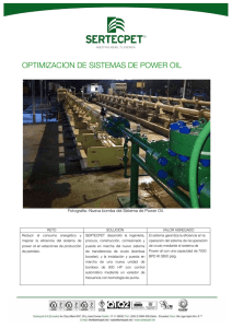 optimizacion de sistemas de power oil