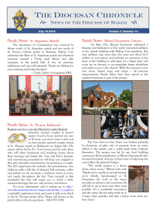 The DIOCESAN Chronicle