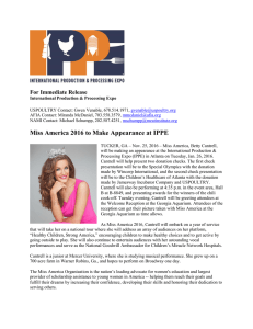 Miss America 2016 to Make Appearance at IPPE