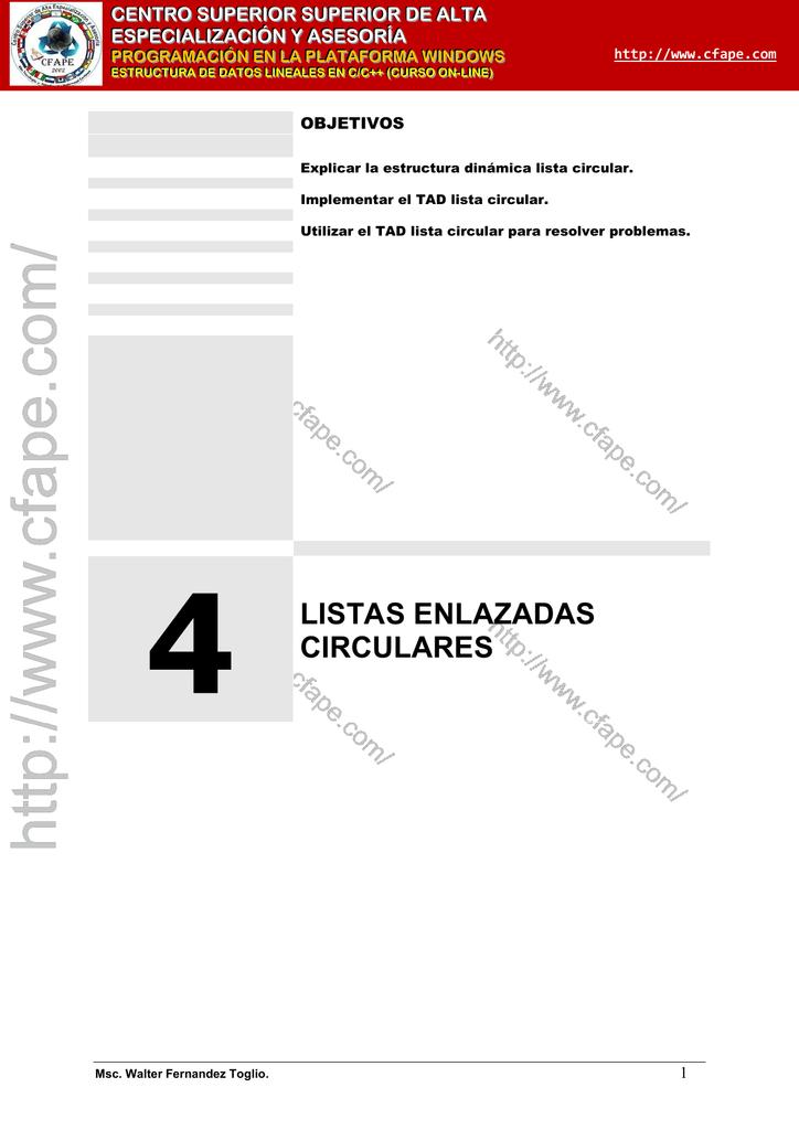 4 Listas Enlazadas Circulares