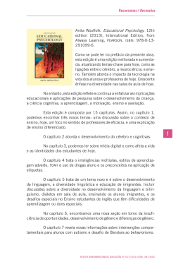 Recensiones / Recensões Anita Woolfolk. Educational Psychology