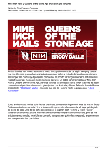 Nine Inch Nails y Queens of the Stone Age anuncian gira conjunta
