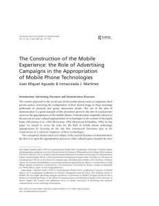 The Construction of the Mobile Experience
