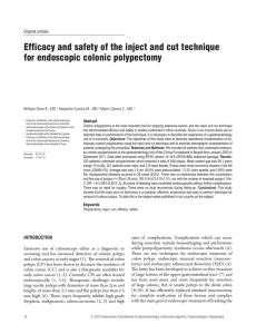 Efficacy and safety of the inject and cut technique for endoscopic