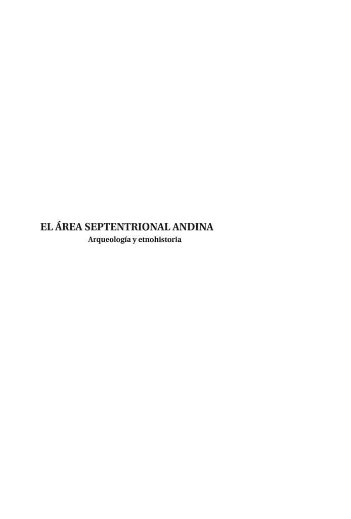 bae7a96a75d5 El área septentrional andina