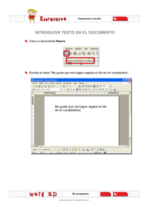 INTRODUCIR TEXTO EN EL DOCUMENTO