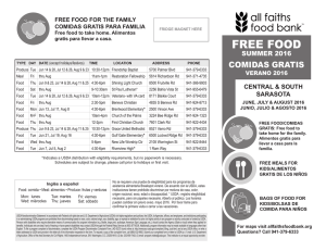 FREE FOOD - All Faiths Food Bank