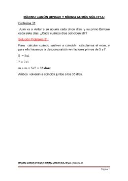 SOLUCIÓN MCD y MCM 19 - Problemas de Matemáticas Resueltos