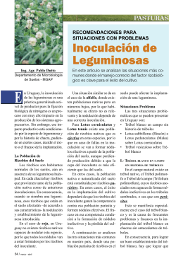 Inoculación de Leguminosas - Instituto Plan Agropecuario