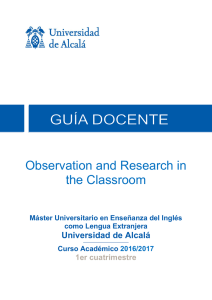 Observation and Research in the Classroom