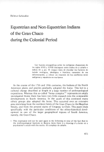 Equestrian and Non-Equestrian Indians of the Gran Chaco during
