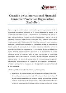Communique New International Financial Consumer Protection