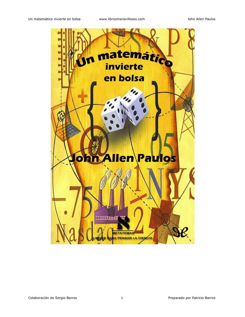 Matemático Un Bolsa Invierte En John ED2WH9I