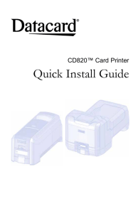 CD820 Card Printer Quick Install Guide
