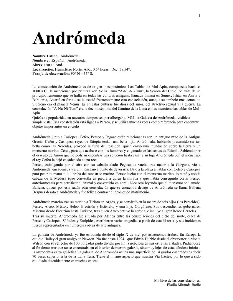 Andromina Significado andrómeda