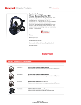 Caras Completas North - Honeywell Safety Products