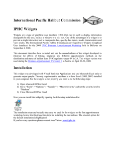 International Pacific Halibut Commission IPHC Widgets Installation