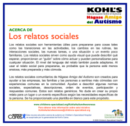 Los relatos sociales - Children`s Specialized Hospital