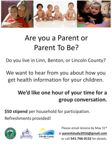 We are looking for Parents and Parents to Be