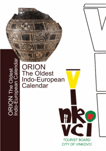The Oldest Indo-European Calendar