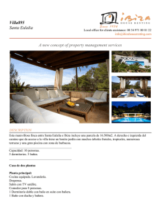 Villa895 Santa Eulalia A new concept of property management