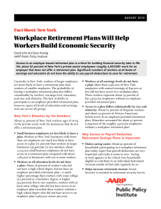 Workplace Retirement Plans will Help New York Workers Build