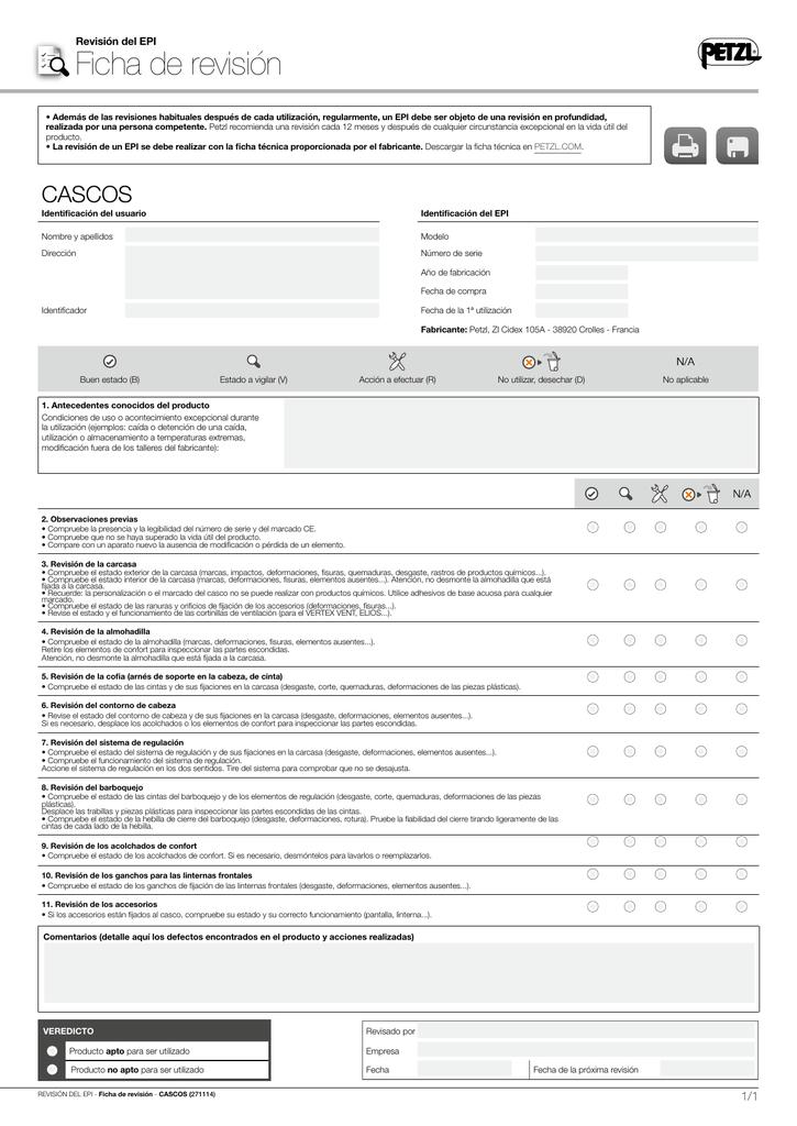 Ficha de seguimiento del EPI Descargar el pdf - 0.24 MB