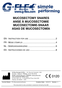 mucosectomy snares anse à mucosectomie mucosectomie - G-Flex