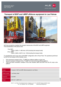 Transport of BOP and LMRP offshore equipment in Las Palmas