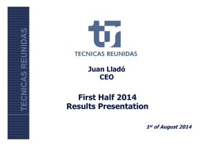 1h 2014 financial results