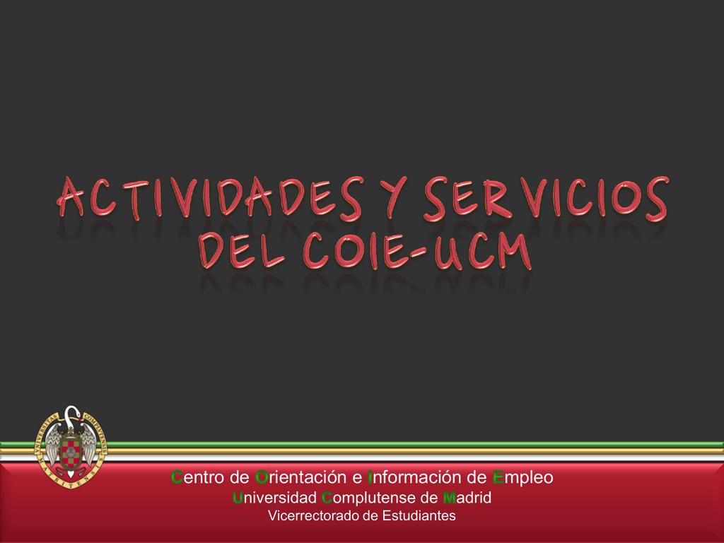 Madrid Universidad De Actividades Coie Complutense Del nOkP0w