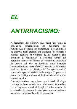 EL ANTIRRACISMO: