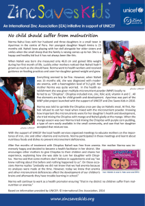 No child should suffer from malnutrition