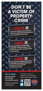 don`t be a victim of property crime