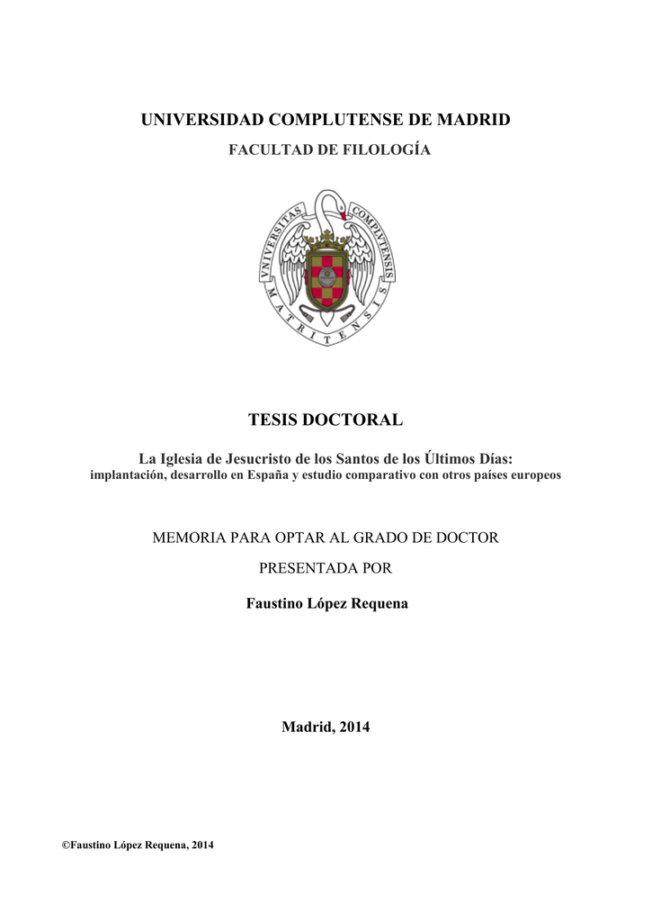 universidad complutense de madrid tesis doctoral - E