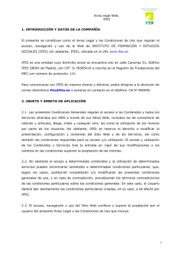 Aviso Legal Web IFES