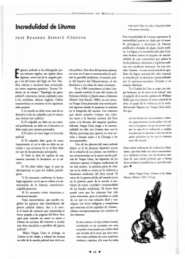 Incredulidad de Lituma - Revista de la Universidad de México