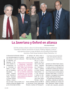 La Javeriana y Oxford en alianza - Pontificia Universidad Javeriana