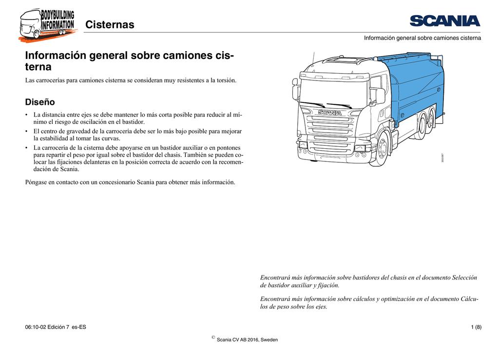 Cisternas Información general sobre camiones cis