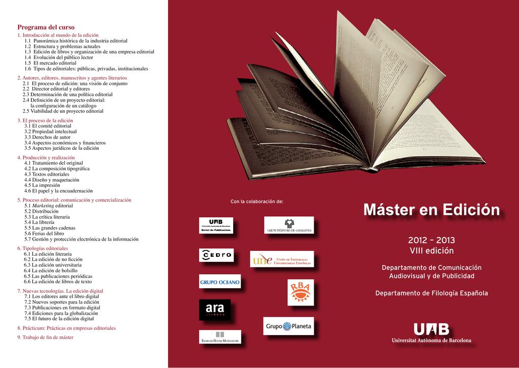2012 2013 Viii Edición Servei De Publicacions De La Uab
