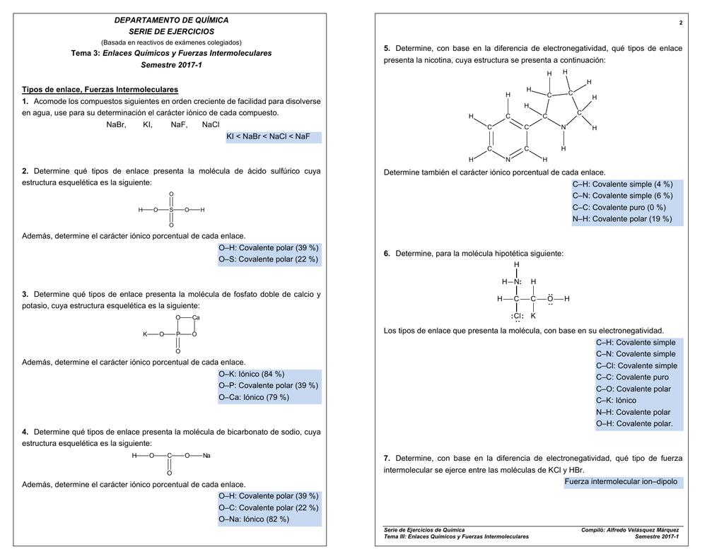 Enlaces Químicos Y Fuerzas Intermoleculares