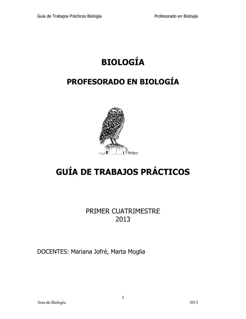 BIOLOGÍA GUÍA DE TRABAJOS PRÁCTICOS