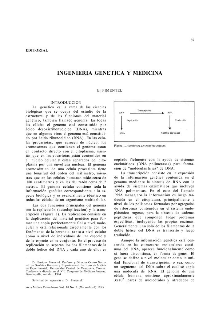Ingenieria Genetica Y Medicina
