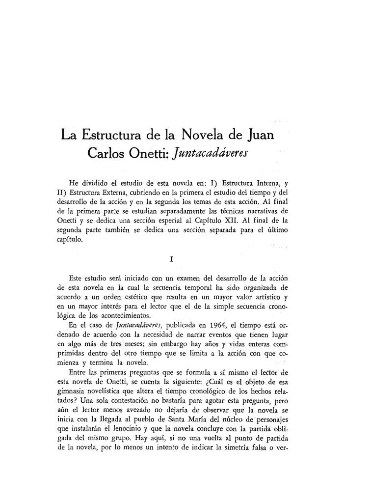 La Estructura De La Novela De Juan
