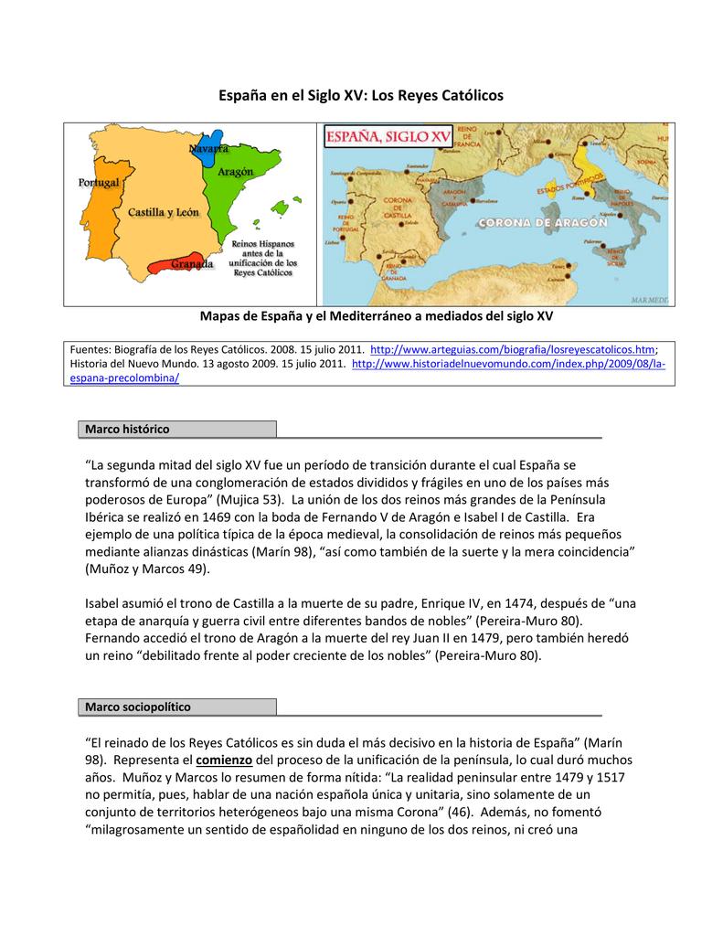 Mapa España Siglo Xv.Espana En El Siglo Xv Los Reyes Catolicos